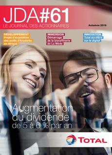 """Couverture - """"Le Journal Des Actionnaires #61 -  Automne 2019"""""""