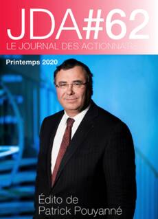 """Couverture - """"Le journal des actionnaires #62 - Printemps 2020"""""""