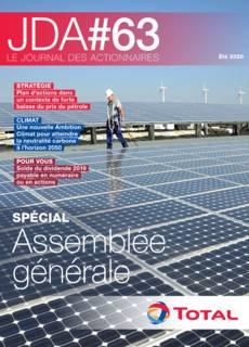 """Couverture - """"Le journal des actionnaires #63 - Été 2020"""""""