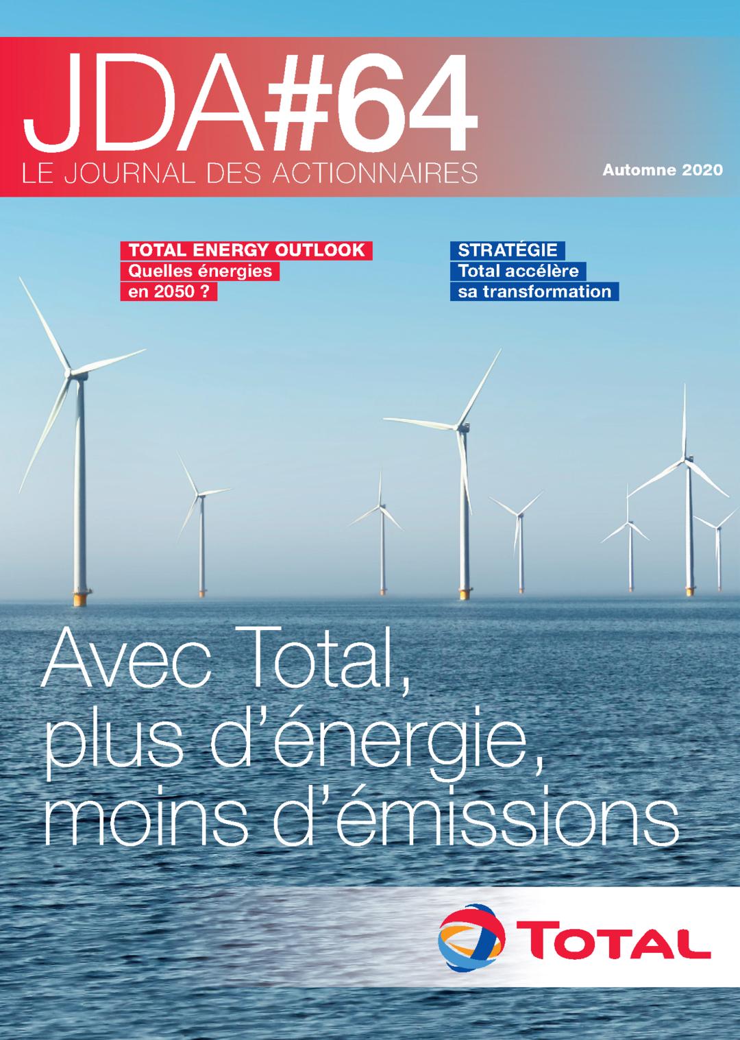 """Couverture - """"Le journal des actionnaires #64 - Automne 2020"""""""
