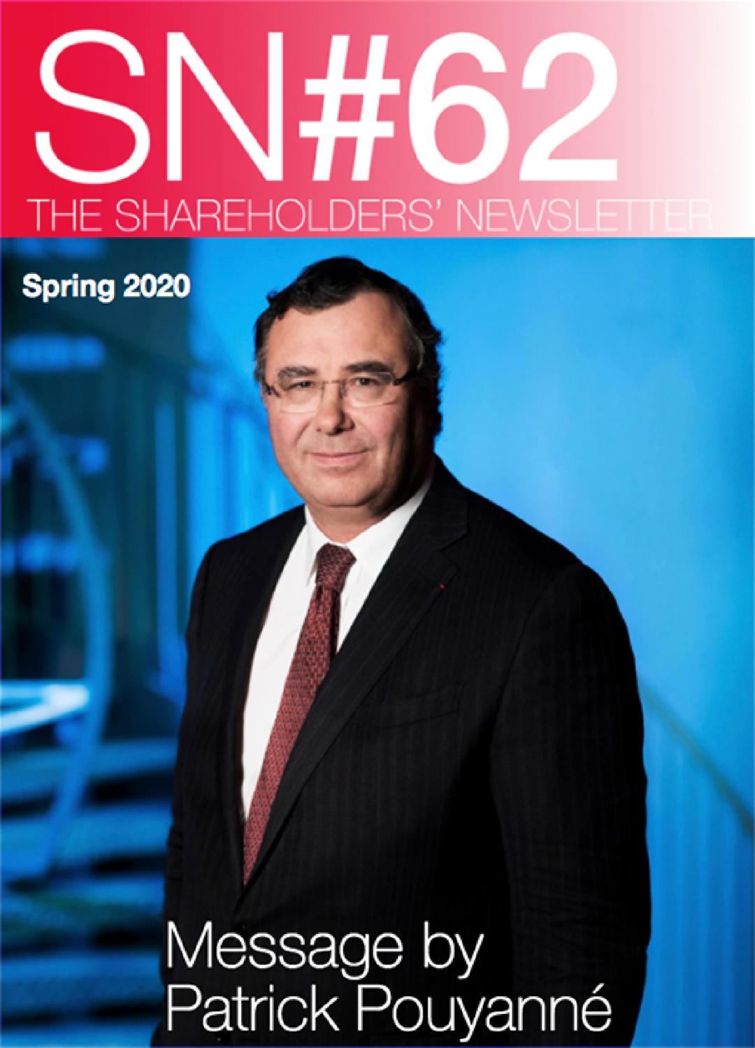 """Cover - """"The Shareholders' Newsletter #62 - Spring 2020"""""""