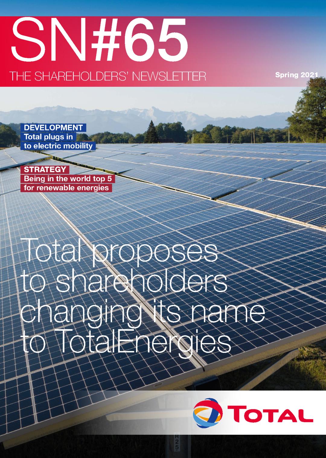 """Cover - """"The Shareholders' Newsletter SN#65"""""""